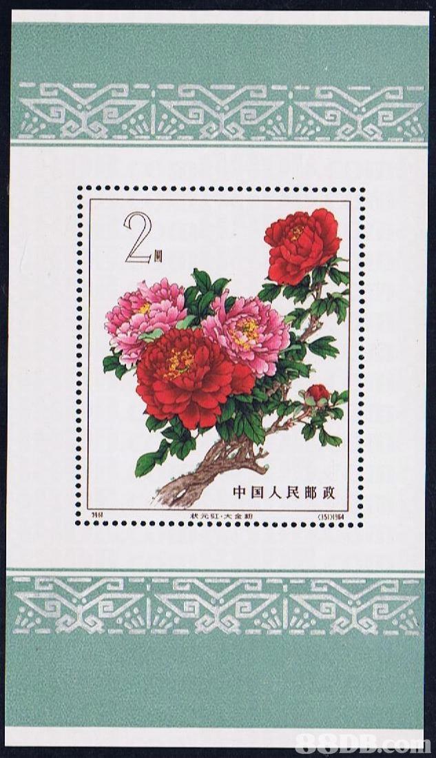 2. 中国人民邮政1: 状元虹,大金 く151 )1964  flower