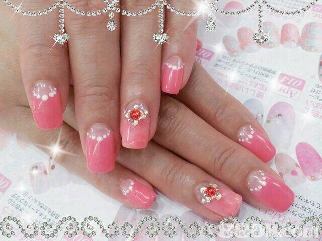 ュートな てもキ  nail,pink,finger,hand,nail care