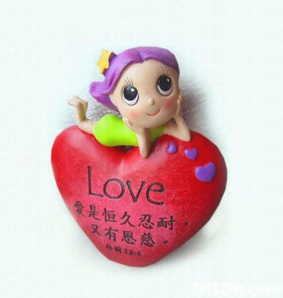 Love 会是恒久忍耐 又有思慈。 13:4  Heart,Pink,Doll,Figurine,Toy