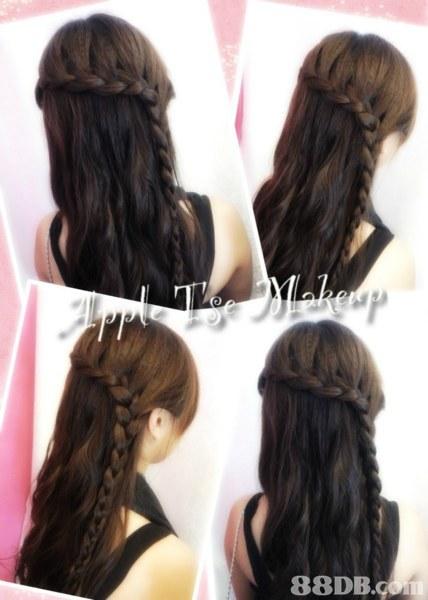 88DB.,hair,hairstyle,long hair,brown hair,hair coloring