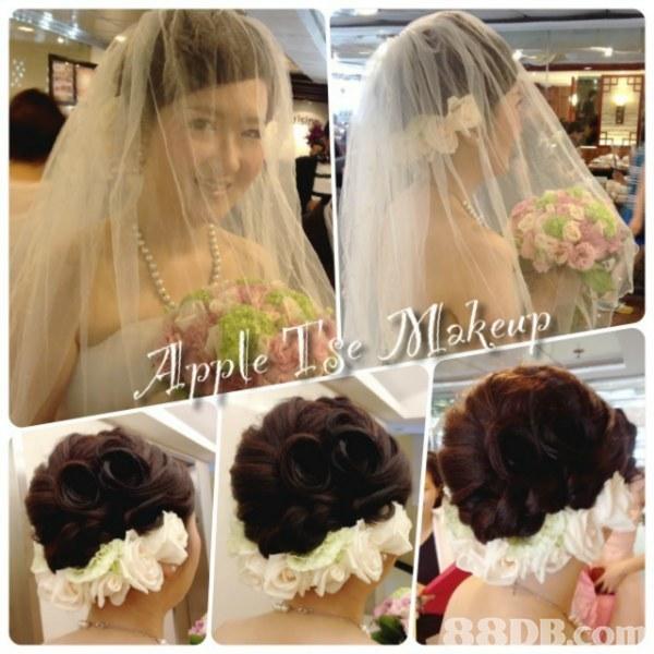 akeup,hair,veil,bride,flower,fashion accessory