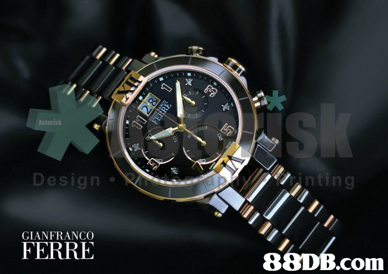 岌 Design inting GIANFRANCO FERRE   watch,watch accessory,watch strap,metal,strap