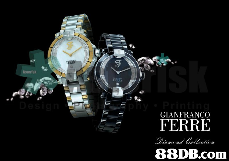 Asterisk GIANFRANCO FERRE   watch,font,product,