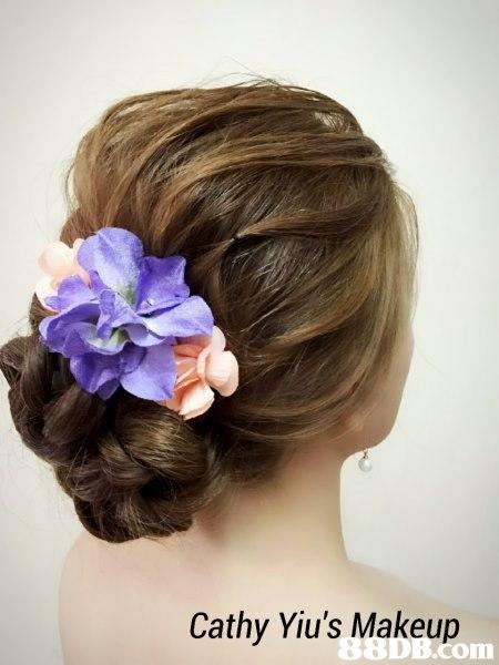 Cathy Yiu's Makeup com,hair,flower,hairstyle,headpiece,hair accessory