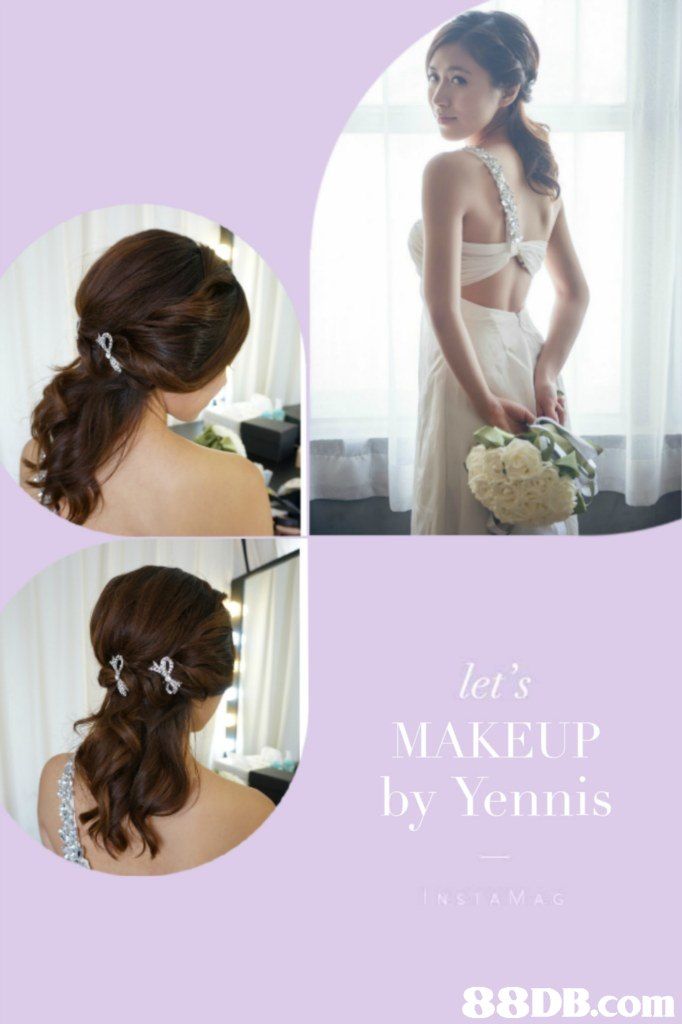 MAKEUP by Yennis,hair,bride,hairstyle,gown,shoulder