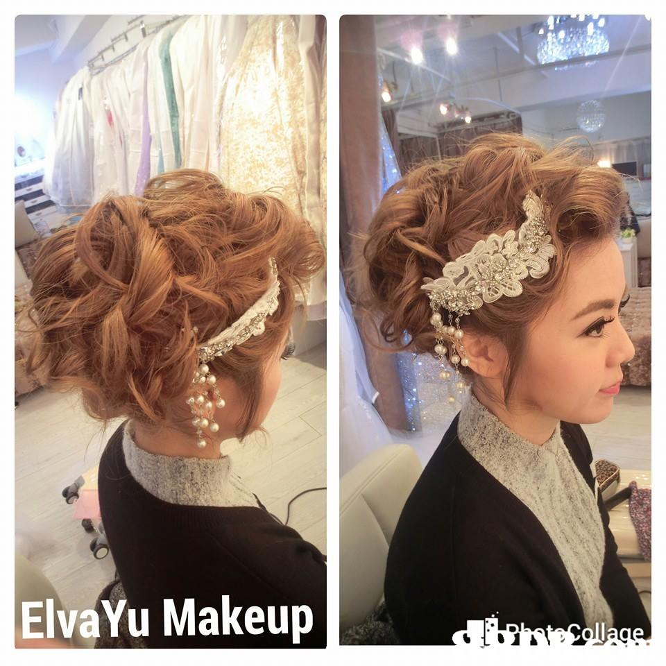 ElvaYu Makeup,hair,hairstyle,human hair color,headpiece,hair accessory