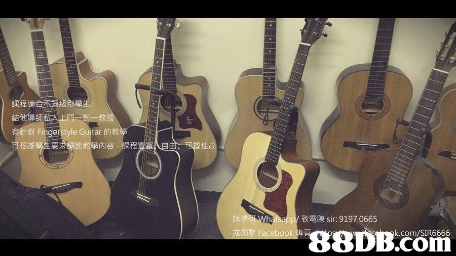 教 有針對Fingerstyle Guitar的教學 可根據 内容、課程豐富 性 致電陳sir: 9197 0665 88DB.com 或瀏覽Facebook  guitar