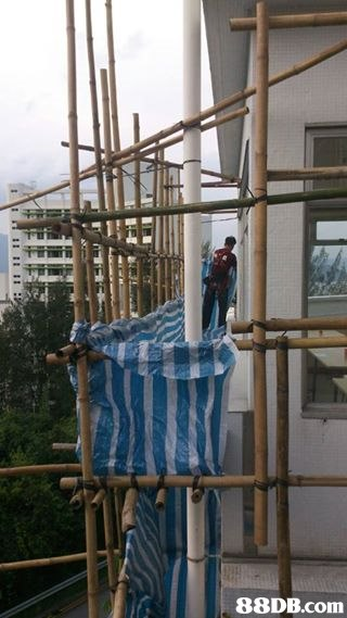 Scaffolding,Construction,Construction worker,Rope,