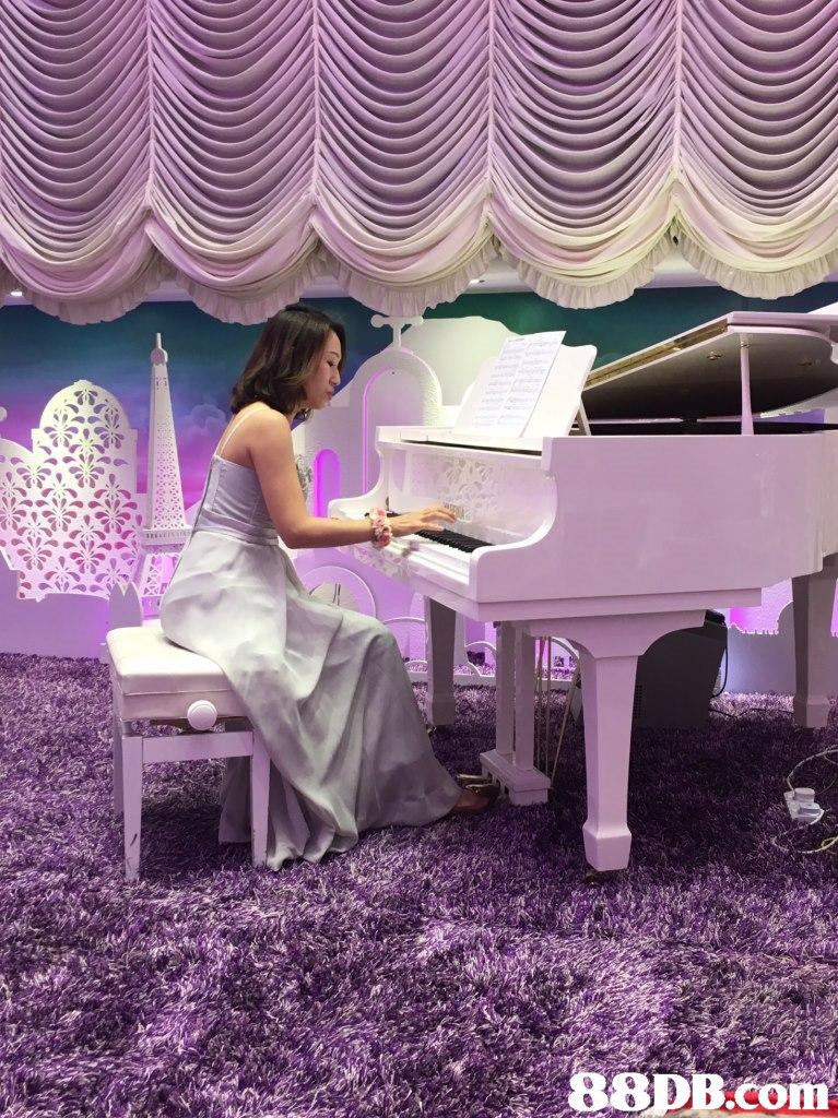 Purple,Violet,Pink,Pianist,Furniture