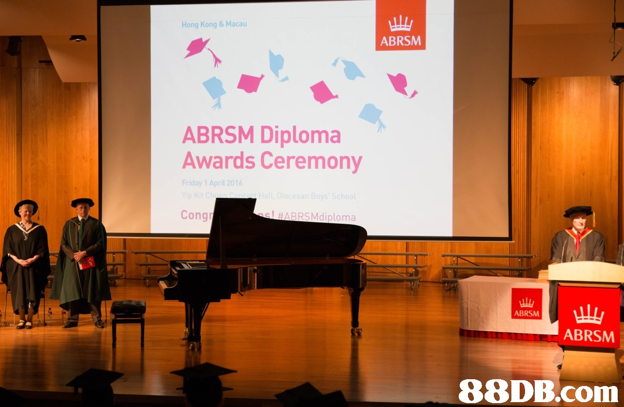 Hong Kong & Macau ABRSM ABRSM Diploma Awards Ceremony ay 1 Ap Cong ! #ABRSMdiploma ABRSM ABRSM   Presentation,Academic conference,Event,Projection screen,Public speaking