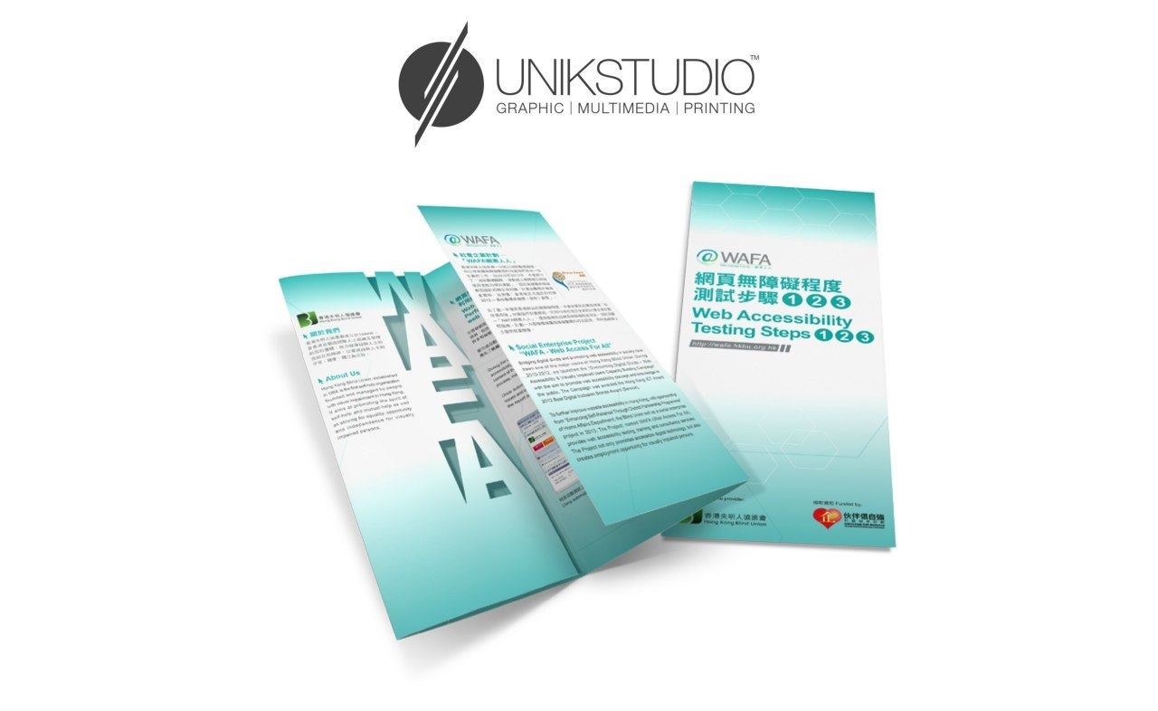 UNIKSTUDIO GRAPHIC | MULTIMEDIA | PRINTING O NAFE WAFA 網頁無障礙程度 測試步驟。@目 Web Accessibility Testing Steps@@目 |  product,product,brand,font,