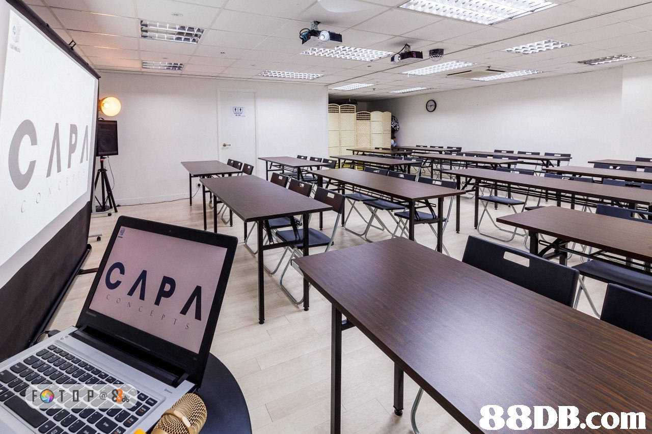 CAP   room,conference hall,classroom,table,