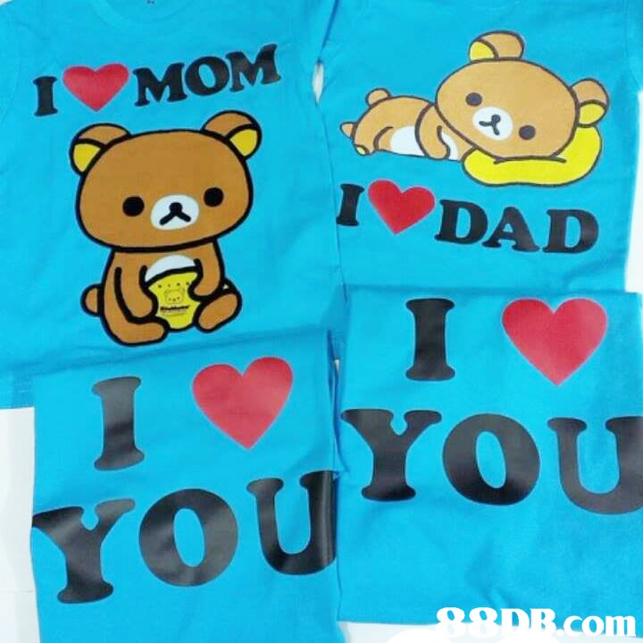 MOM IV DAD I YOU OU 98DB.cOm  Text,Cartoon,Font