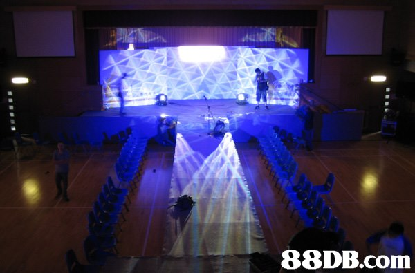 function hall,stage,light,ceremony,lighting