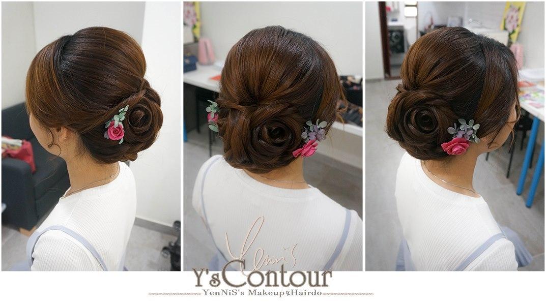 Contou YenNiS's MakeupHairdo,hair,hairstyle,chignon,bun,hair coloring