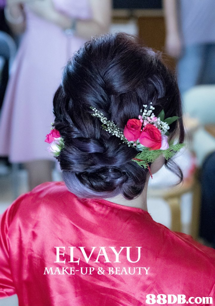 ELAYU MAKE-UP & BEAUTY,hair,pink,hairstyle,flower,black hair