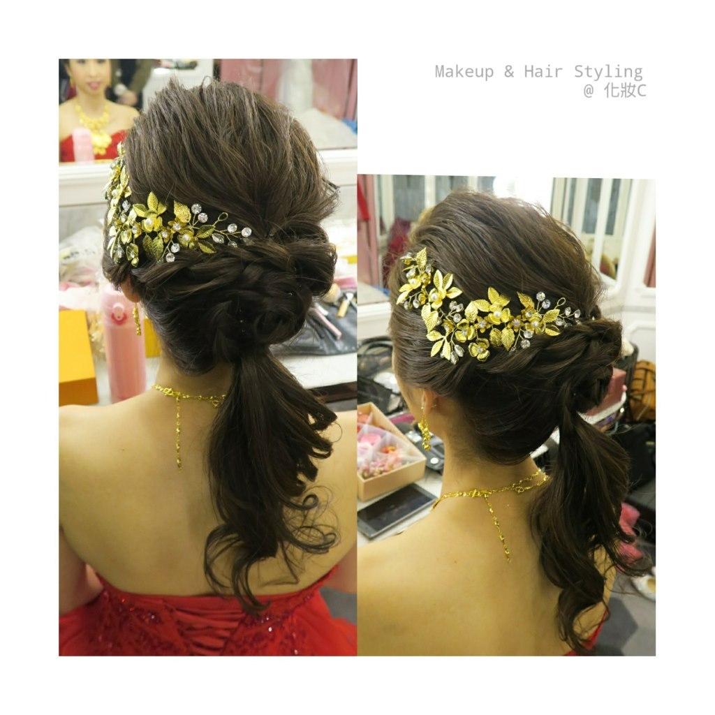 Makeup & Hair Styling @化妝C,hair,hair accessory,headpiece,hairstyle,fashion accessory