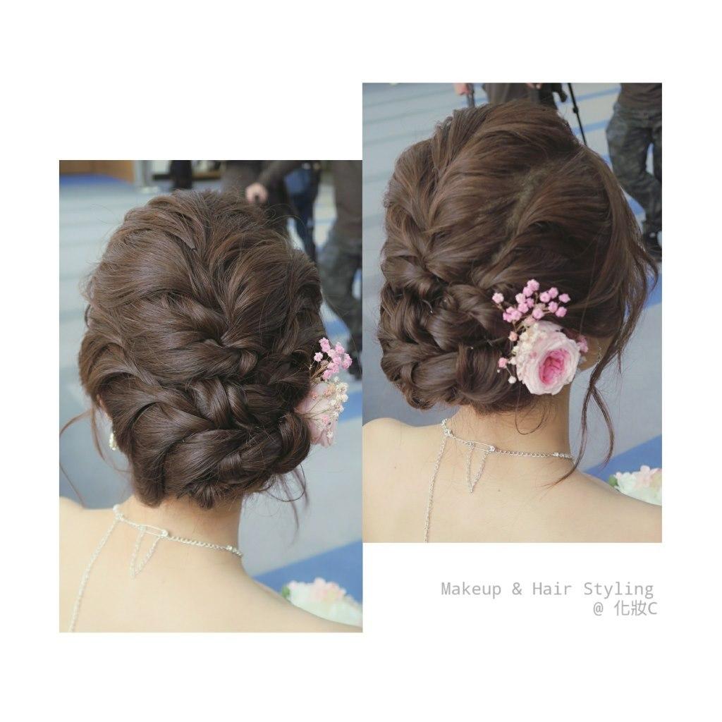 Makeup &Hair Styling @化妝c,hair,hairstyle,bun,long hair,chignon