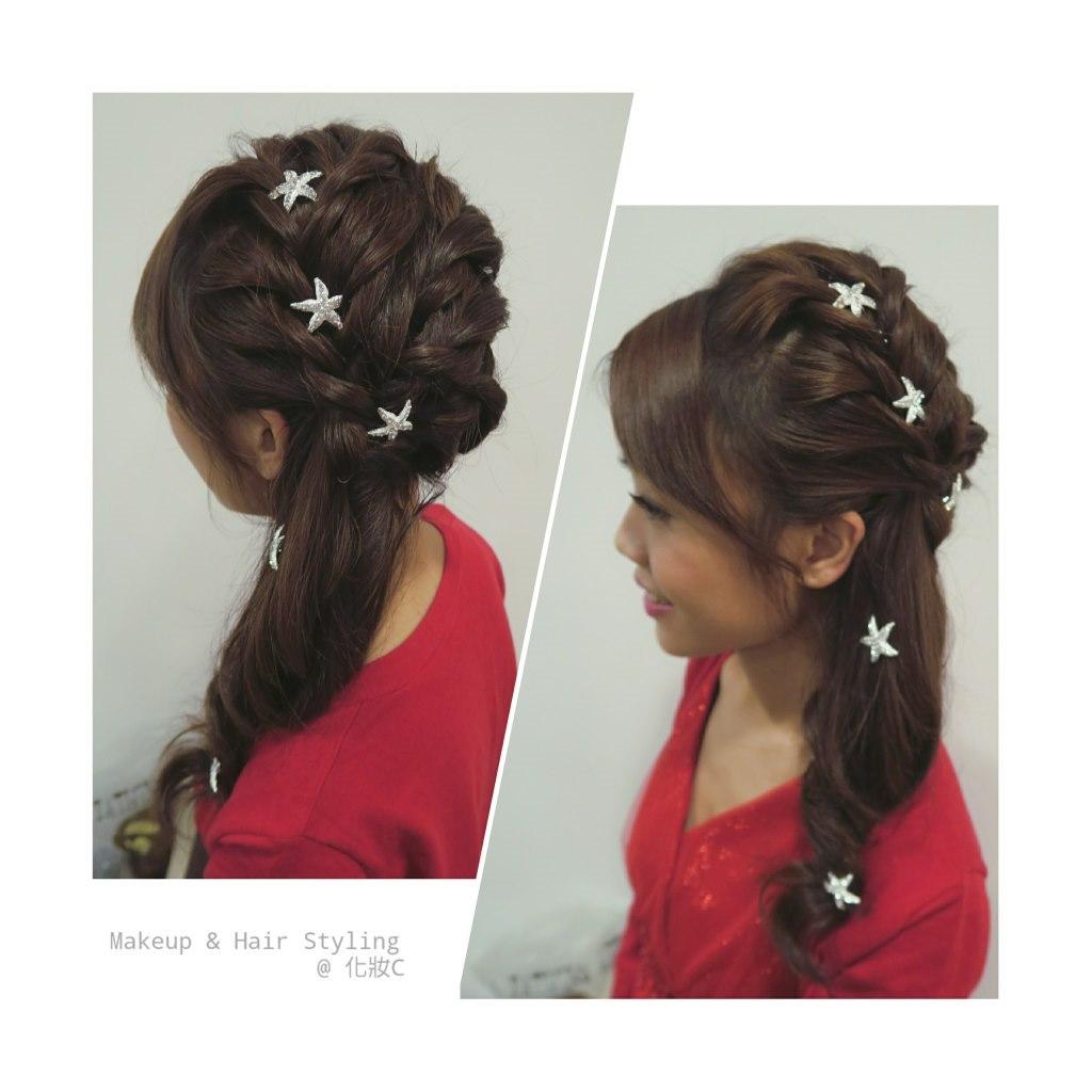 Makeup & Hair Styling @化妝c,hair,hairstyle,long hair,hair accessory,brown hair