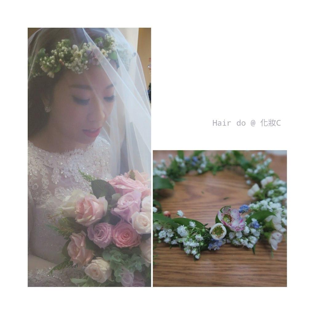 Hair do @化妝C,flower,flower arranging,bride,hair accessory,flower bouquet