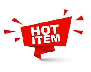 HOT ITEM,red,text,product,logo,font