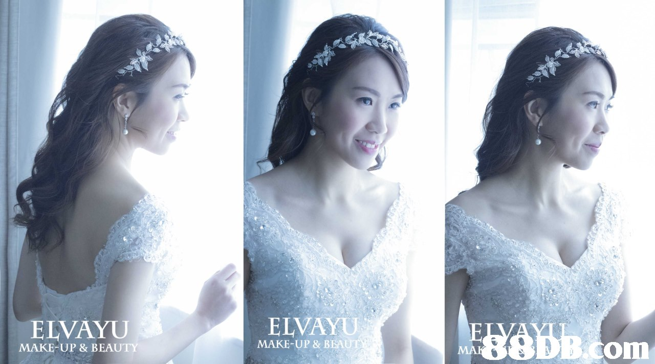 ELVAYU ELVAYU MAKE-UP & BEAUT MAKE-UP & BEAUTY om,bride,gown,photograph,headpiece,hair accessory