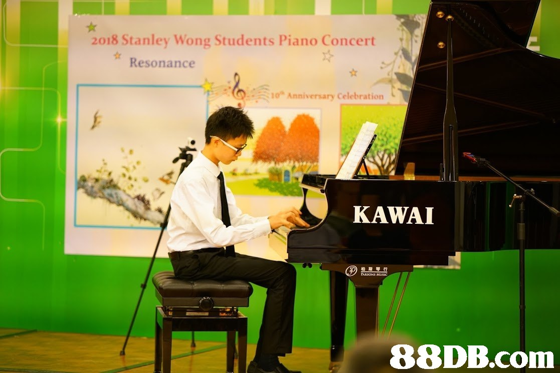 2018 Stanley Wong Students Piano Concert Resonance 10. Anniversary Celebration KAWAI 柏斯琴行 PARSONS MuSIC,green,piano,technology,keyboard,pianist