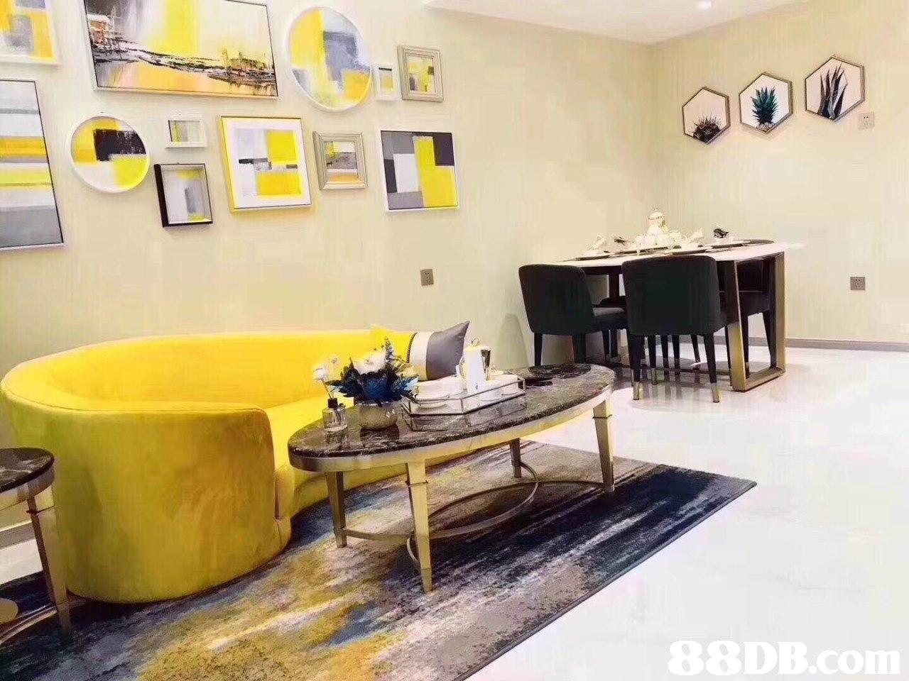 yellow,property,room,interior design,table
