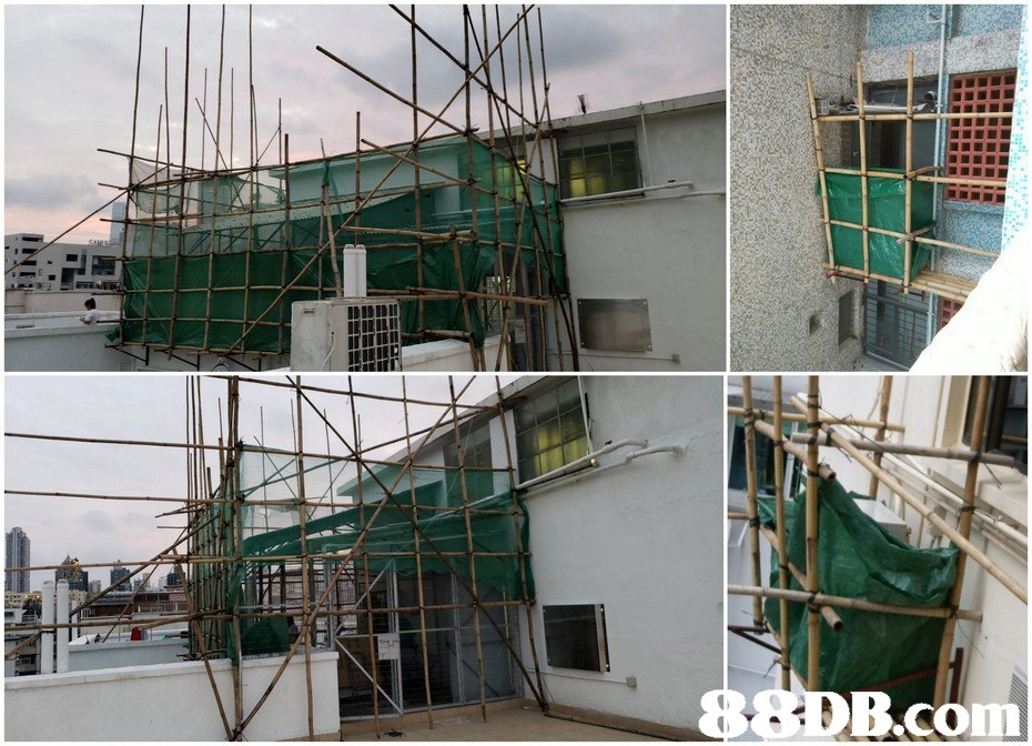 B.com,scaffolding,structure,building,facade,construction
