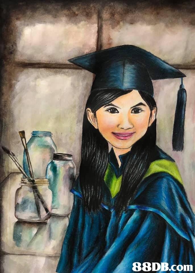 painting,portrait,art,academic dress,watercolor paint