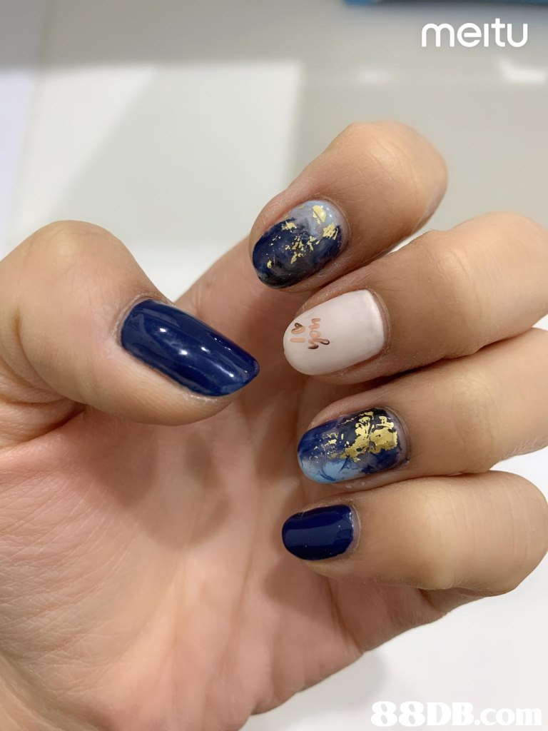 meitu,Nail polish,Nail,Manicure,Blue,Nail care