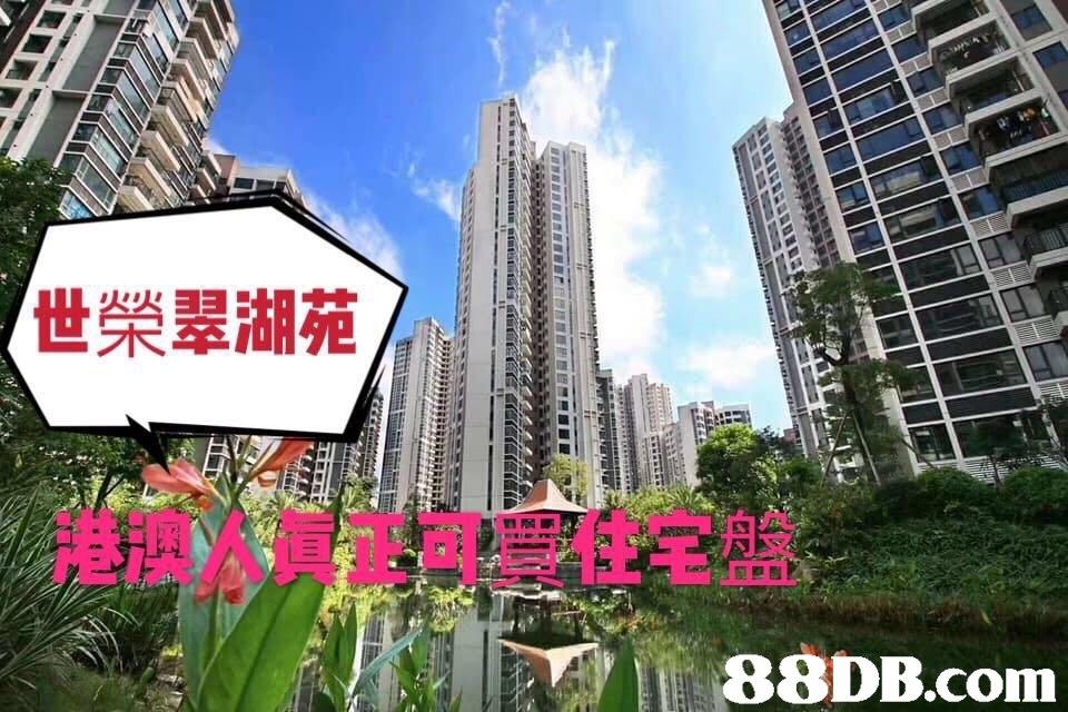 世榮翠湖苑/ 港澳人員正可買住宅盤 PİU   Metropolitan area,Condominium,Landmark,Metropolis,Tower block