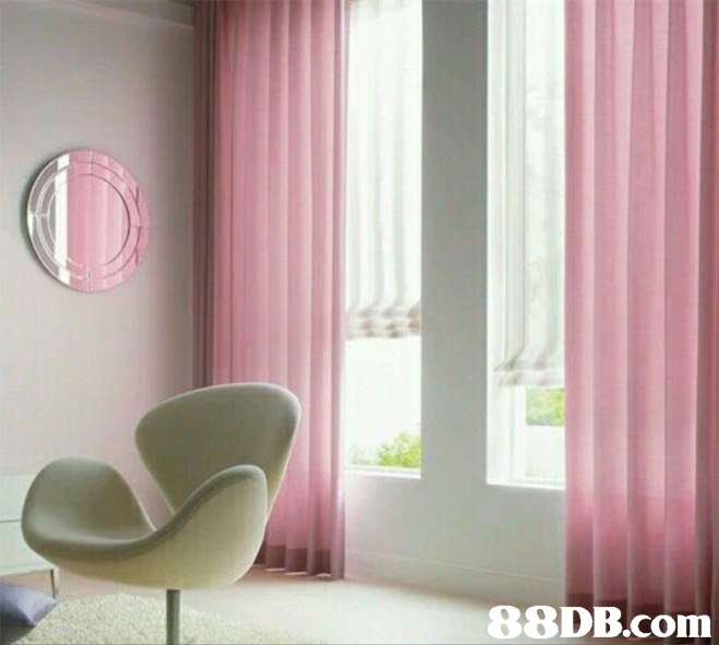 Curtain,Interior design,Window treatment,Pink,Window covering