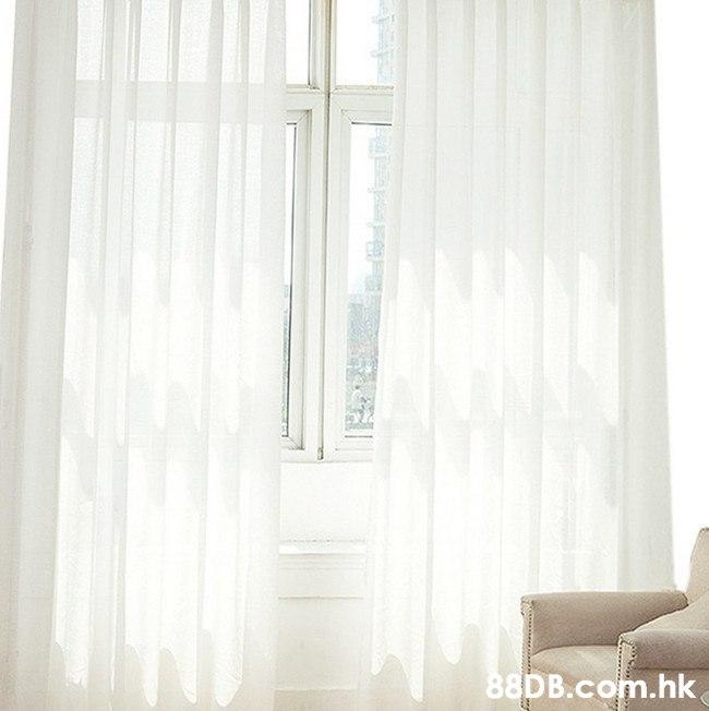 .hk  Curtain,Window treatment,White,Interior design,Window covering